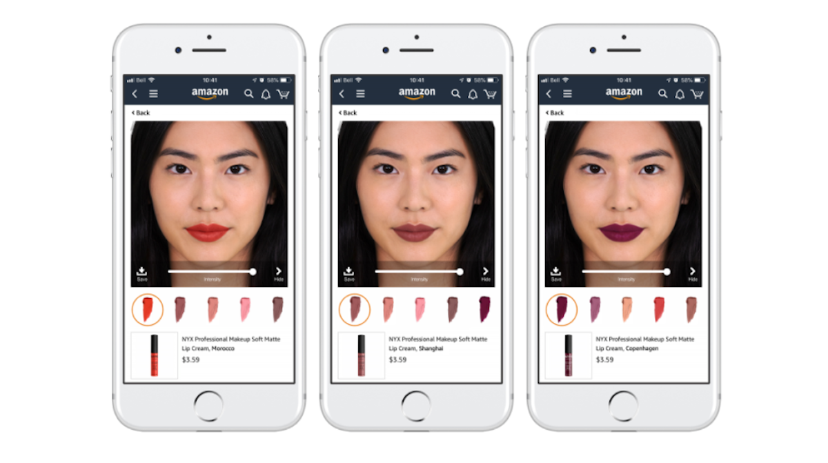 Loreal AR on Amazon Virtual Try On Example